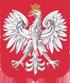 Godło Polski - Orzeł na czerwonym tle